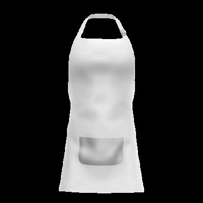Avental Branco Com Bolso