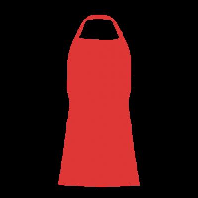 Avental Vermelho Com Bolso