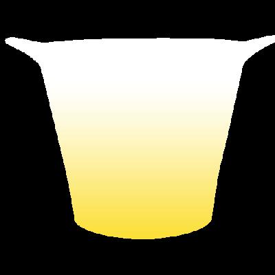 Balde de Gelo Jateado Amarelo