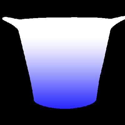 Balde de Gelo Jateado Azul Royal