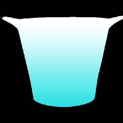 Balde de Gelo Jateado Azul Tiffany