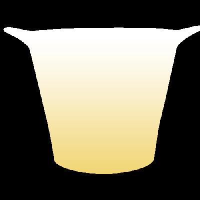 Balde de Gelo Jateado Dourado
