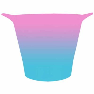 Balde de Gelo Bicolor Rosa e Azul Tiffany