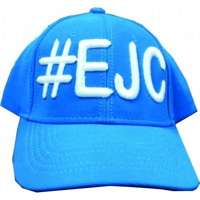 Boné  #EJC Azul Com Bordado Branco - Aba Curva