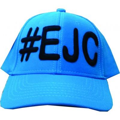 Boné  #EJC Azul Com Bordado Preto - Aba Curva