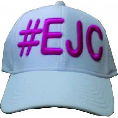 Boné  #EJC Branco Com Bordado Roxo - Aba Curva
