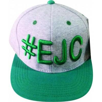 Boné  #EJC  Cinza Com Aba Reta - Verde
