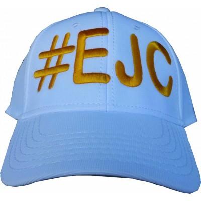 Boné # EJC Branco Com Bordado Amarelo - Aba Curva
