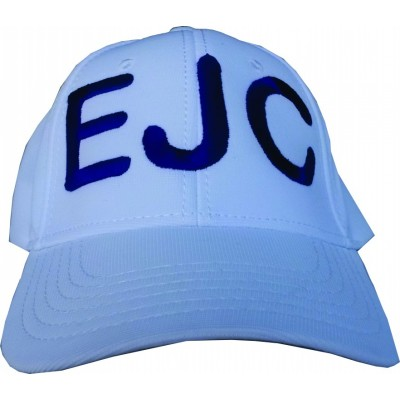 Boné EJC Branco Com Bordado Azul - Aba Curva