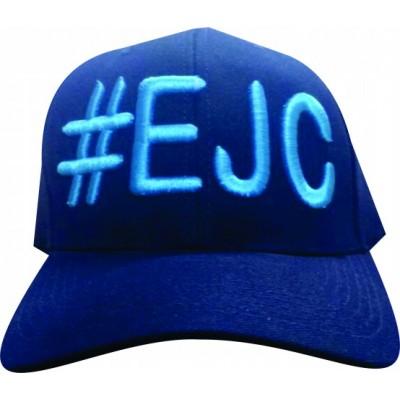 Boné  #EJC  Azul Marinho Com Bordado Azul Claro - Aba Curva