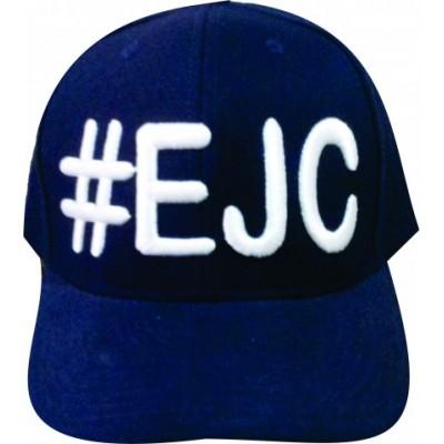 Boné  #EJC  Azul Marinho Com Bordado Branco - Aba Curva