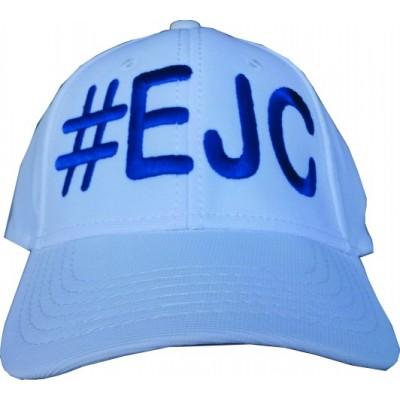 Boné  #EJC  Branco Com Bordado Azul - Aba Curva
