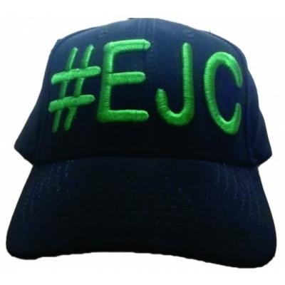 Boné  #EJC  Preto Com Bordado Verde - Aba Curva