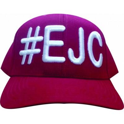Boné  #EJC  Bordô Com Bordado Branco - Aba Curva