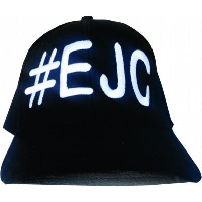 Boné # EJC Preto Com Bordado Branco - Aba Curva