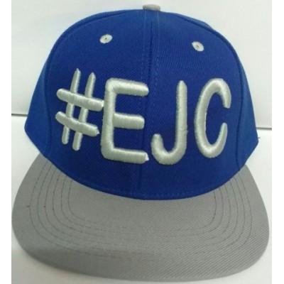 Boné  #EJC  Azul Royal Com Aba Reta - Cinza