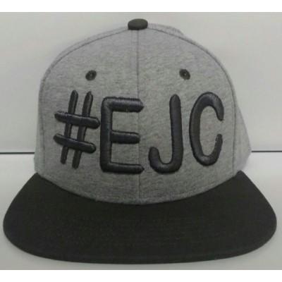 Boné  #EJC  Cinza Com Aba Reta - Cinza Escuro