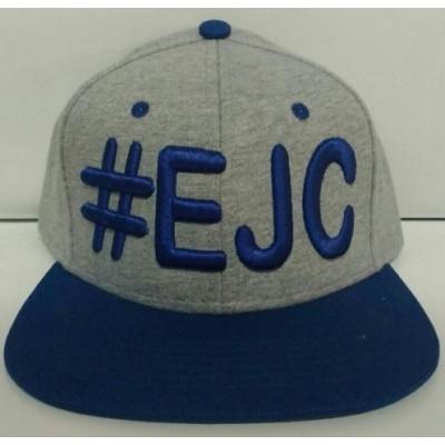 Boné  #EJC  Cinza Com Aba Reta - Azul Royal