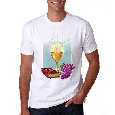 Camisa Calice,Hostia e Bíblia