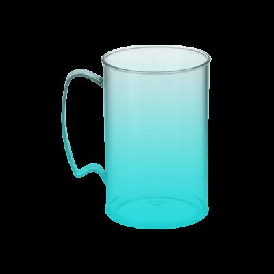 Caneca Jateada Azul Tiffany de 430 ml