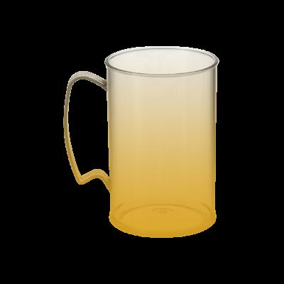 Caneca Jateada Dourada de 430 ml