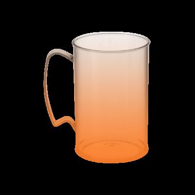 Caneca Jateada Laranja de 430 ml