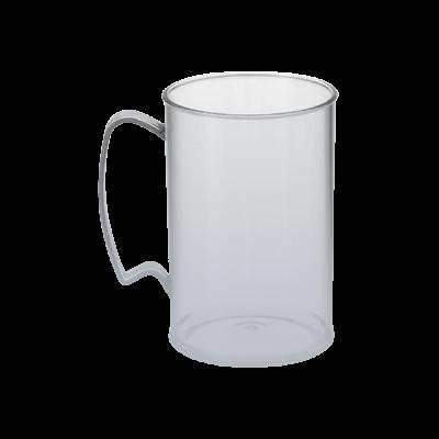 Caneca Jateada Prata de 430 ml
