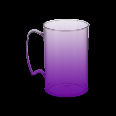 Caneca Jateada Roxa de 430 ml