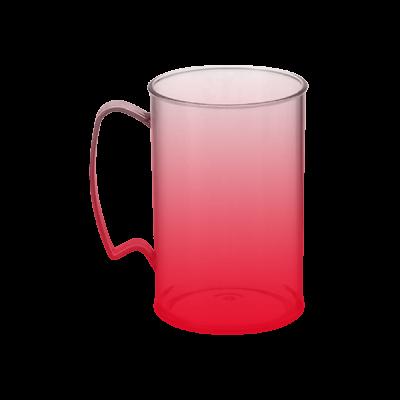 Caneca Jateada Vermelha de 430 ml