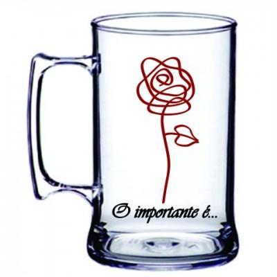 Caneca Acrílica O importante é a Rosa