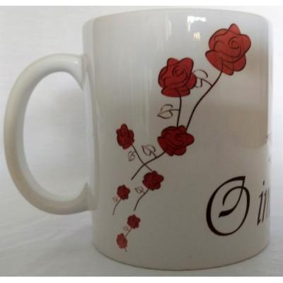 Caneca de Porcelana  Importante é a Rosa