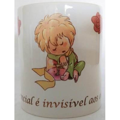 Caneca de Porcelana Pequeno Príncipe O essencial é Invisivel Aos Olhos