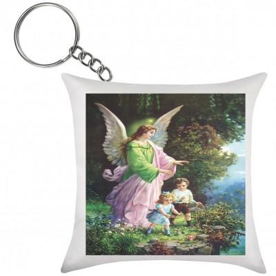 Chaveiro de Almofada Anjo da Guarda na Árvore