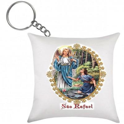 Chaveiro de Almofada Anjo São Rafael