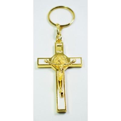 Chaveiro Cruz de São Bento Branca