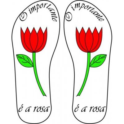 Chinelo O Importante é a rosa 02