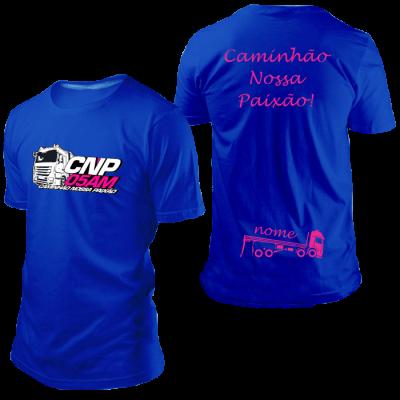 Camisa CNP Azul Royal com Nome
