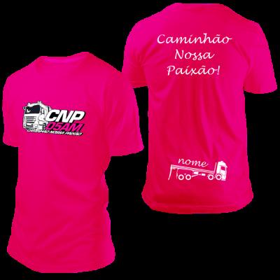 Camisa CNP Rosa com Nome