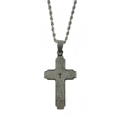 Colar Inox Oração Pai Nosso 2