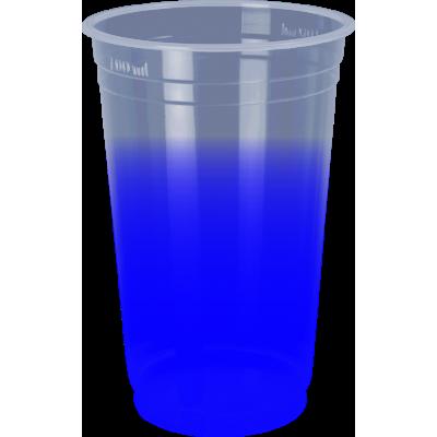 Copo Descartável Jateado Azul Royal, 300 ml.