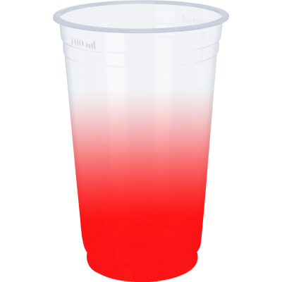 Copo Descartável Jateado Vermelho, 300 ml.
