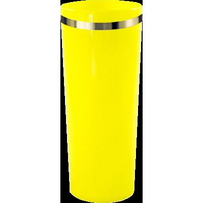 Copo Long Drink com Borda Amarelo