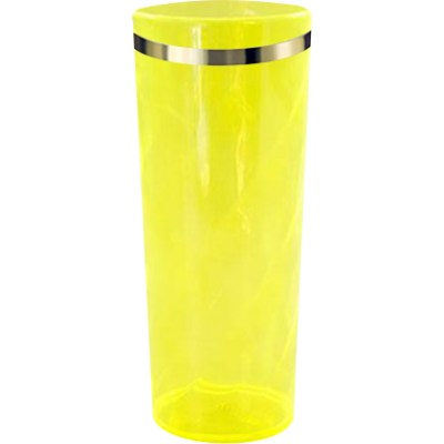 Copo Long Drink com Borda Amarelo Translúcido
