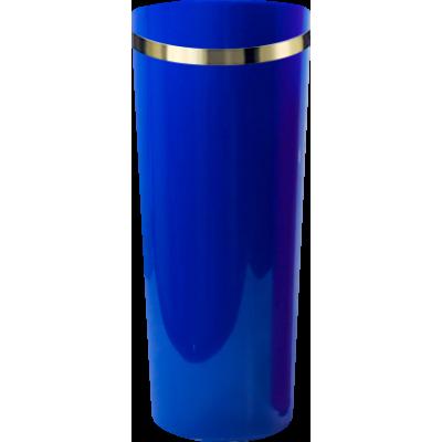 Copo Long Drink com Borda Azul Royal