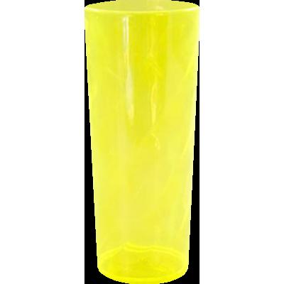 Copo Long Drink Amarelo Translúcido