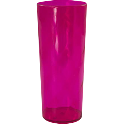 Copo Long Drink Rosa Translúcido