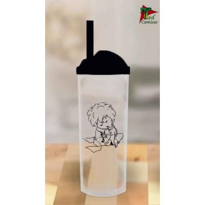 Copo Long Drink Pequeno Príncipe - Transparente com Preto