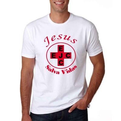 Camisa EJC Jesus Salva Vidas Branca