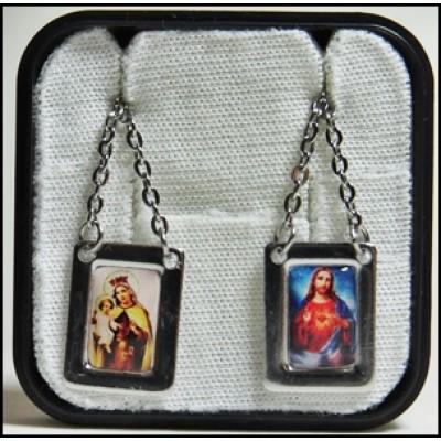 Escapulário N. S. Carmo e Coração de Jesus