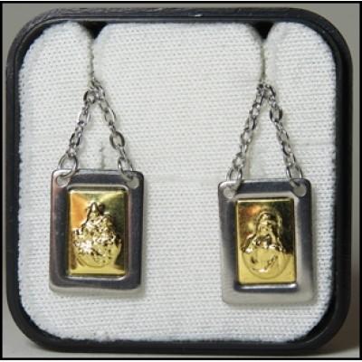 Escapulário N. S. Carmo e Coração de Jesus Dourado